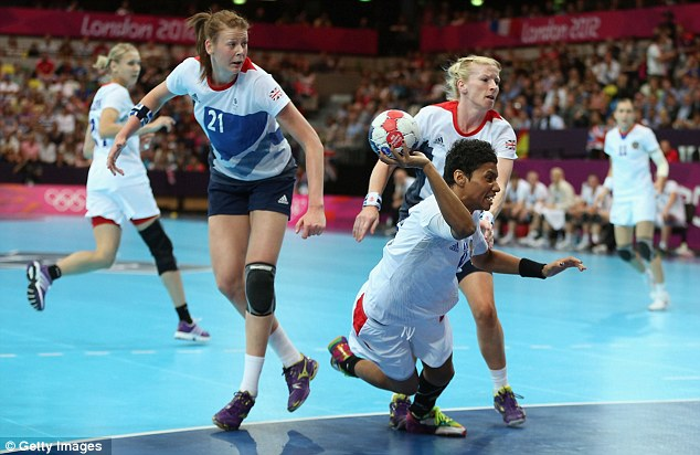 Handy opposition: Team GB fell behind 17-8 at half-time to Russia
