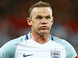 Wayne Rooney of England appears frustrated during the international friendly match between England and Portugal played at Wembley Stadium, London on June 2nd 2016