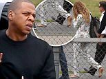 EXCLUSIVE TO INF.\nJune 2, 2016: Jay-Z and Beyonce arrive at a heliport in the Hamptons this afternoon where they boarded a private helicopter and headed home to New York City.\nMandatory Credit: Matt Agudo/INFphoto.com Ref: infusny-251