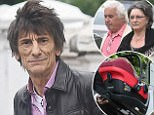 June 02, 2016: June 02, 2016  Ronnie Wood and In-Laws Colin and Alison seen leaving home after welcoming his twin daughters with wife Sally in London  Non Exclusive Worldwide Rights Pictures by : FameFlynet UK � 2016 Tel : +44 (0)20 3551 5049 Email : info@fameflynet.uk.com