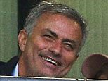 Manchester United manager Jose Mourinho is all smiles during the international friendly match between England and Portugal played at Wembley Stadium, London on June 2nd 2016