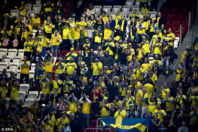 Passionate support: Sweden's fans would be a welcome addition to the 2014 World Cup in Brazil