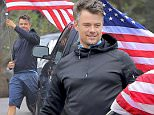 Exclusive... 52078339 Actor and busy dad Josh Duhamel is seen taking down the flag from his house after Memorial Day celebrations in Brentwood, California on June 1, 2016. Josh has been showing his support for Veterans by joining a campaign called #EnlistMe, that creates smart homes for injured veterans. ***NO WEB USE W/O PRIOR AGREEMENT - CALL FOR PRICING*** FameFlynet, Inc - Beverly Hills, CA, USA - +1 (310) 505-9876