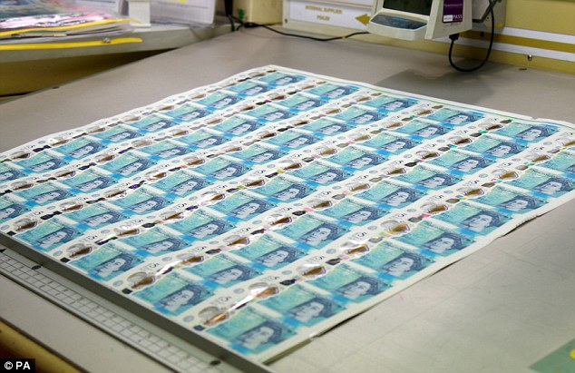 The new plastic £5 note will be issued on September 13, when about 44million of the notes will come into circulation
