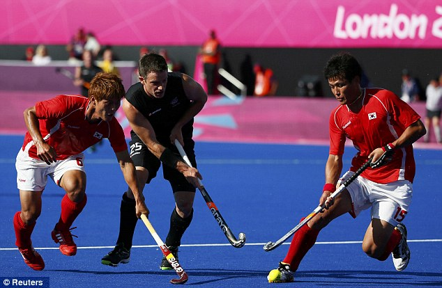 First up: The men's hockey kicked off the day's action as New Zealand took on South Korea