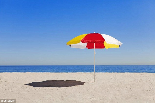 A man from Madrid set up his parasol early one morning on the beach - but was then fined as it disrupted the cleaning process