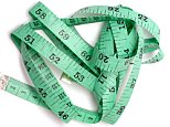 A stock photo of a Green Measuring Tape.     BN02TX Green tape measure
