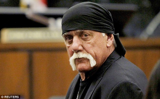 Hulk smash: Hulk Hogan (pictured), real name Terry Bollea, won $140m after suing Gawker - more than he asked for. Omidya's amicus support filing could escalate Gawker's appeal into a First Amendment case
