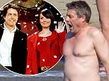 Hugh Grant braves the cold sea water while on holiday in Marbella 31 May 2016. Please byline: G Tres/Vantagenews.com