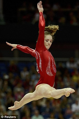 Jennifer Pinches performs on the balance beam