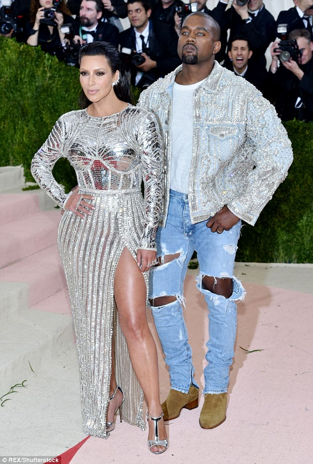 Missing the drama: Kim and Kanye at the Met Gala on 2 May - shortly after Stanulis was fired