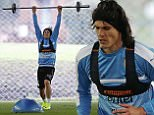 Football Soccer - Uruguay's training - Copa America Centenario - Montevideo, Uruguay - 30/5/16. Uruguay's player Edinson Cavani trains. REUTERS/Andres Stapff