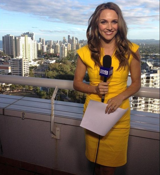 Weather girl: Gruzlewski has cut back her on-air commitments since becoming a mother to her 12-month-old