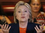 Democratic presidential candidate Hillary Clinton speaks at a roundtable event at a restaurant Thursday, June 2, 2016, in Perris, Calif. (AP Photo/John Locher)