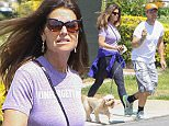 LOS ANGELES, CA - JUNE 02: Maria Shriver is seen with her son Patrick Schwarzenegger and his dog on June 02, 2016 in Los Angeles, California.  (Photo by Bauer-Griffin/GC Images)