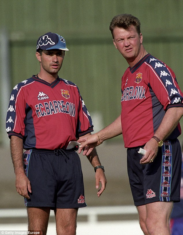 Mourinho (left) learned his tactical approach from Van Gaal working under the Dutchman at Barcelona