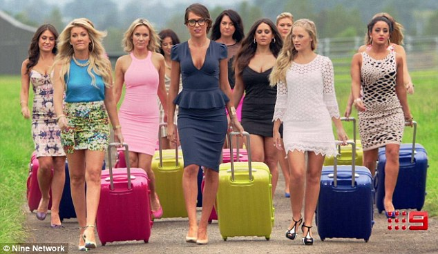 Looking for love: The show centres on a dozen girls being bussed around Australia's country towns to meet local bachelors