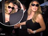 Ouch! Mariah Carey hits her head as she gets into her SUV\n\nOuch! Mariah Carey hits her head as she gets into her SUV after dinner at MR Chow. Mariah greeted fans that waited for her out side as she stunned in an asymmetrical black dress.\n\nhttp://live-uk.andweb.dmgt.net/video/tvshowbiz/video-1296330/Ouch-Mariah-Carey-hits-head-gets-SUV.html
