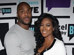 WATCH WHAT HAPPENS LIVE -- Pictured (l-r): Matt Jordan and Kenya Moore -- (Photo by: Charles Sykes/Bravo/NBCU Photo Bank via Getty Images)