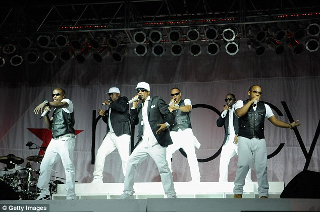 With the band: Bobby originally rose to fame as part of the Boston-born R&B group (pictured in 2014)