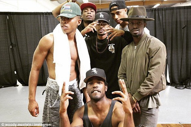 'SQUAD' Stars Bryshere Y. Gray (Michael Bivins), Woody (Bobby), Algee Smith (Ralph Tresvant), Keith Powers (Ronnie Devoe), Elijah Kelley (Ricky Bell), and Luke James (Johnny Gill) posed in one photo to pay homage to the original group members