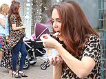 Picture Shows: Nicole Barber-Lane, Sarah George, Jennifer Metcalfe  June 01, 2016\n \n **ABSOLUTELY NO WEB OR ONLINE USAGES UNTIL AFTER 18:30 BST - UK TIME - 03-06-2016** \n **MIN £300 WEB / ONLINE SET USAGE FEE AFTER THAT TIME** \n \n The 'Hollyoaks' McQueen family are up to their old tricks. The whole cast that makes up the fictional clan, including Jennifer Metcalfe who was sporting a fake pregnancy bump, filmed a dramatic scene where it looks as if they try to steal baby clothing from a shop. \n \n In the scene, Mercedes (Jennifer Metcalfe) notices the security code on the door and when the owner has gone, Mercedes goes into the shop with her mother and sister but the alarms goes off and the shutters start to close.\n \n **ABSOLUTELY NO WEB OR ONLINE USAGES UNTIL AFTER 18:30 BST - UK TIME - 03-06-2016** \n **MIN £300 WEB / ONLINE SET USAGE FEE AFTER THAT TIME** \n \n Exclusive\n WORLDWIDE RIGHTS\n Pictures by : FameFlynet UK © 2016\n Tel : +44 (0)20 3551 5049\n Email : info@famefl