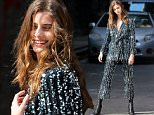 Model Taylor Hill, sparkles in a sequined jumpsuit, shooting an editorial in New York City on June 2, 2016\n\nPictured: Taylor Hill\nRef: SPL1294524  020616  \nPicture by: Christopher Peterson/Splash News\n\nSplash News and Pictures\nLos Angeles: 310-821-2666\nNew York: 212-619-2666\nLondon: 870-934-2666\nphotodesk@splashnews.com\n