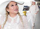 Kesha wears all white at Los Angeles International Airport\nFeaturing: Kesha\nWhere: Los Angeles, California, United States\nWhen: 03 Jun 2016\nCredit: WENN.com
