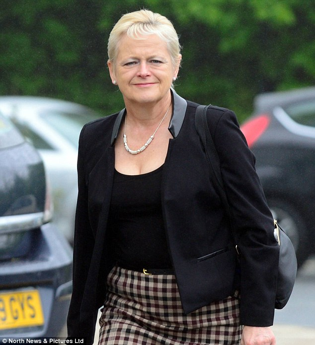 Denise Aubrey, 54, (pictured yesterday), brought a claim for unfair dismissal, discrimination and harassment against her former employers after apparently being sacked for 'gossiping' about chief constable Mike Craik
