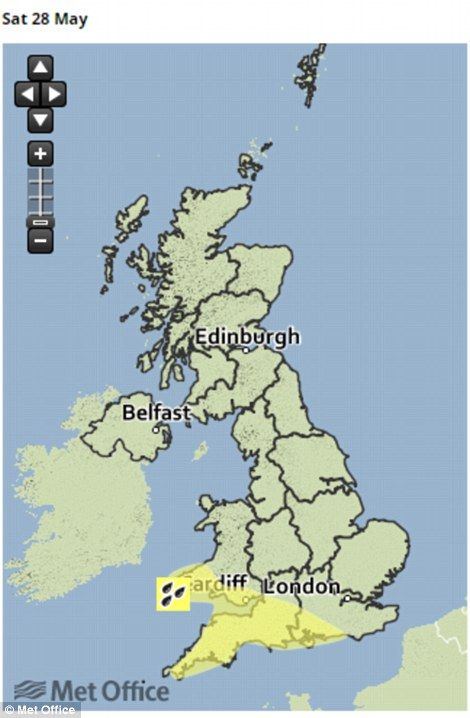 Met Office warning for tomorrow