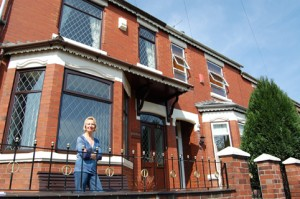 Eve outside her home in Eaton Street