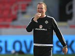 Northern Ireland manager Michael O'Neill during a training session at the Antona Malatinskeho Stadium, Trnava. PRESS ASSOCIATION Photo. Picture date: Friday June 3, 2016. See PA story SOCCER N Ireland. Photo credit should read: Jonathan Brady/PA Wire. RESTRICTIONS: Editorial use only, No commercial use without prior permission, please contact PA Images for further information: Tel: +44 (0) 115 8447447.