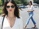 West Hollywood, CA - Alessandra Ambrosio shops at Water Works on Melrose Place. The 35-year-old model brings major street style wearing cropped flares with frayed hems paired with a plunging white crop and camel heels. \nAKM-GSI          June 3, 2016\nTo License These Photos, Please Contact :\nMaria Buda\n(917) 242-1505\nmbuda@akmgsi.com\nsales@akmgsi.com\nor \nMark Satter\n(317) 691-9592\nmsatter@akmgsi.com\nsales@akmgsi.com