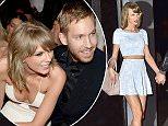 NEW YORK, NY - MAY 26:  Taylor Swift and Calvin Harris are seen in Soho on May 26, 2015 in New York City.  (Photo by Alo Ceballos/GC Images)