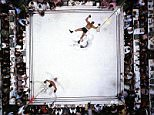 Metro Life Photography Review: (Exhibition  of Neil Leifer work) picture shows Muhammad Ali knocks out Cleveland Williams in Houston Texas in 1966 exhibition at Proud central 5 Buckingham Street Street WC2