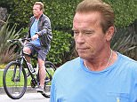 3 June 2016. Arnold Schwarzenegger is pictured out in LA on his bike. Credit: BG/GoffPhotos.com   Ref: KGC-300/160603BZ1 **UK, Spain, Italy, China, South Africa Sales Only**