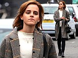 (EXCLUSIVE PICTURES ALL ROUND) Actress Emma Watson wearing a check coat, cream top, black skinny jeans and a pair of black ankle boots out and about in London, UK. 03/06/2016..BYLINE MUST READ : GOTCHAIMAGES.COM....Copyright by © Gotcha Images Ltd. All rights reserved...Usage of this image is conditional upon the acceptance ..of Gotcha Images Ltd, terms and conditions available at..www.gotchaimages.com