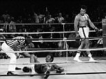 ALI FOREMAN...FILE -- Referee Zack Clayton counts out George Foreman as Muhammed Ali looks on in the 8th round of their title bout in Kinshasa, Zaire, in this Oct. 30, 1974 photo. (AP Photo/Jim Boudier, File)...S...FILE