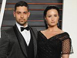 BEVERLY HILLS, CA - FEBRUARY 28:  Actor Wilmer Valderrama and singer Demi Lovato arrive at the 2016 Vanity Fair Oscar Party Hosted By Graydon Carter at Wallis Annenberg Center for the Performing Arts on February 28, 2016 in Beverly Hills, California.  (Photo by Jon Kopaloff/FilmMagic)