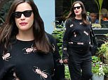 06/03/2016\nEXCLUSIVE: Heavily pregnant Liv Tyler heads out to lunch with a friend on a rainy NYC afternoon. The 38 year old actress was spotted strolling through the west village today after enjoying her time with a friend. Ms Tyler is expecting her third child and her second with partner David Gardner.  \nPlease byline: TheImageDirect.com