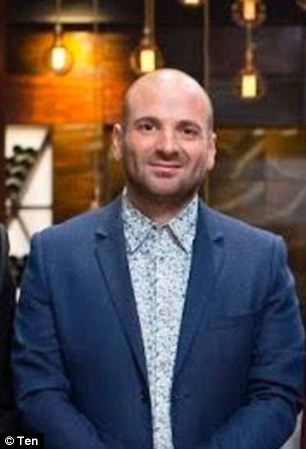 My, you've changed! George Calombaris looked almost unrecognisable in a flashback snap of his younger self during his time at his first Melbourne restaurant in 2003 (L)