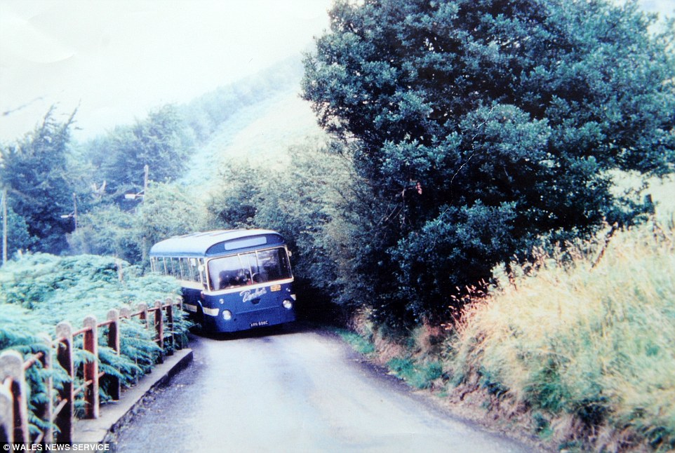 Winding road: This is a Peake's bus going over the mountain at Pantygasseg in Monmouthshire in around the 1960s