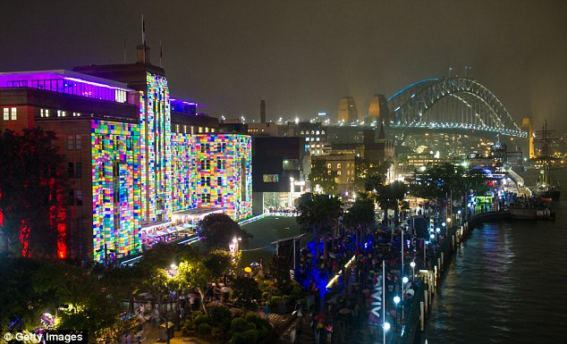 Circular Quay (pictured) will be a hub of activity during Vivid with the iconic Sydney Harbour Bridge and Opera House ready to be turned into dazzling canvases of light