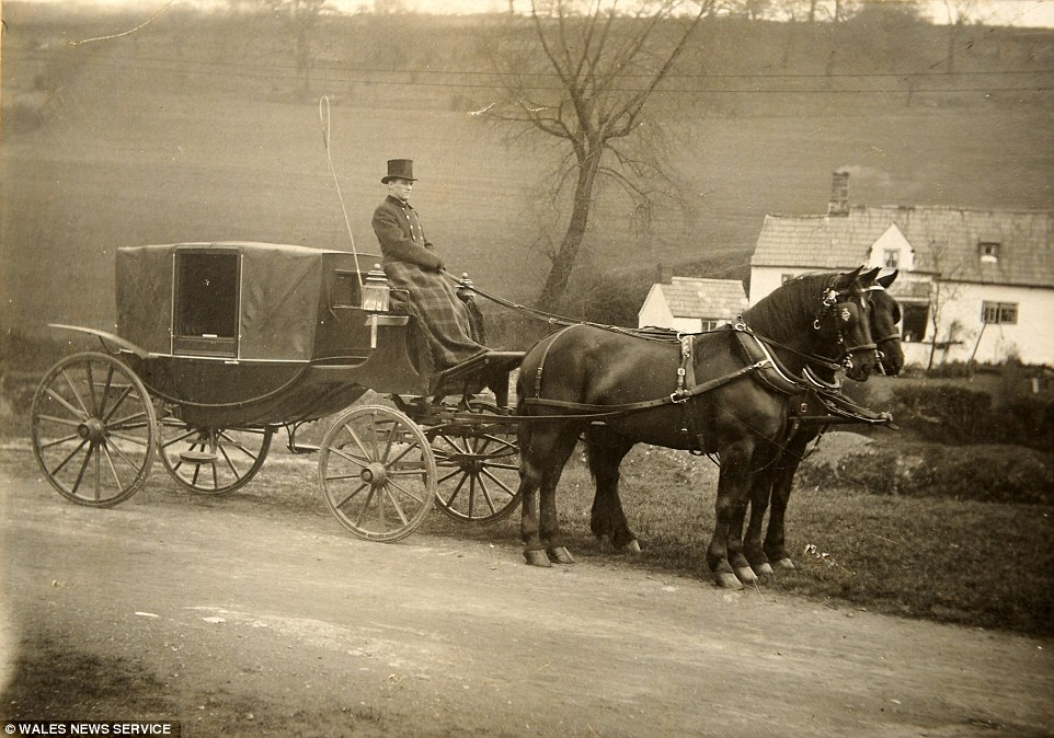 Second generation: Edmund's son Billy Peake in the 1920s on one of the Peake companies coaches - around 40 years after the business was founded
