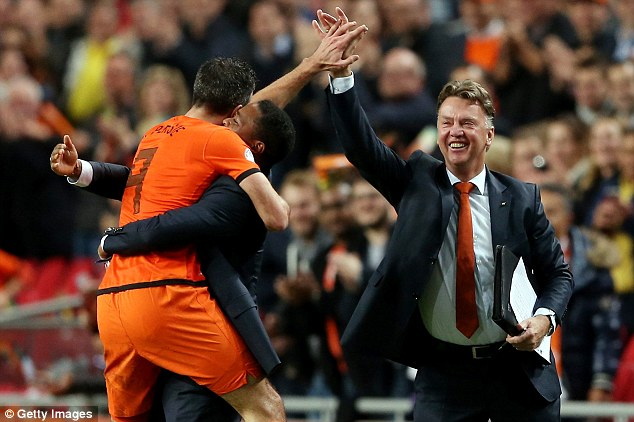 Tough task master: Holland boss Louis van Gaal had warned his side they were playing for their World Cup places