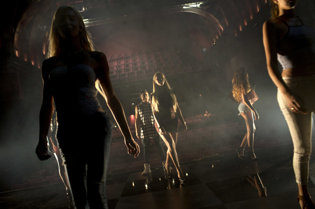 FILE - Contestants in the first Miss Trans Israel beauty pageant practice the walk on the stage during rehearsal in Tel Aviv, Israel, Thursday, May 26, 2016....