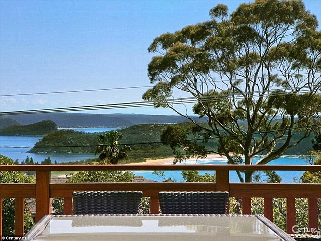 Beautiful views: Tucked away at the far end of Sydney's northern beaches, the spectacular property features breathtaking oceanfront views of Palm Beach