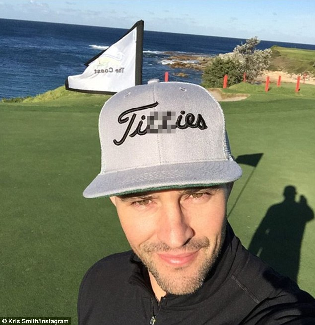 'T***ies!' Kris Smith flaunted a crude baseball cap on Instagram on Friday