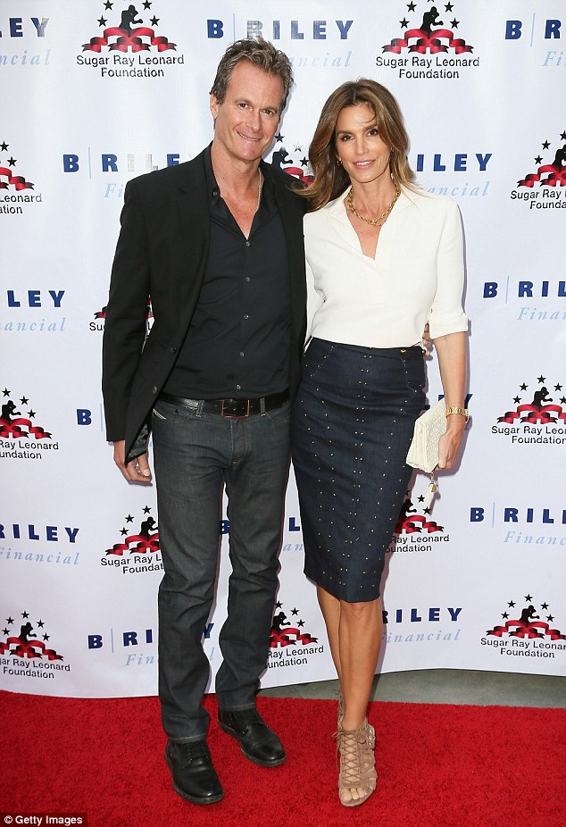 What a team! Model Cindy Crawford and Rande Gerber step out together in LA, last month