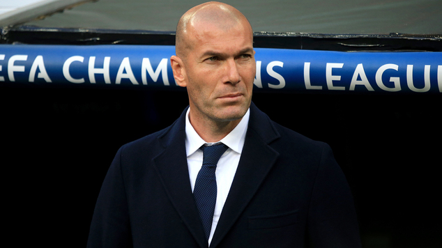 Real Madrid manager Zinedine Zidane won the Champions League as a player with the club in 2002